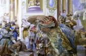 Sacro Monte (Orta, Piedmont Northern Italy): detail of some sacred statues in a chapel. Color image — Stock Photo