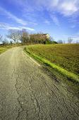Monferrato winter panorama. Color image — Stock Photo