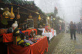 Govone Cuneo, Northern Italy. Christmas market. Color image — Stock Photo