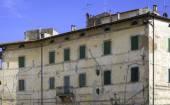 Pitigliano, Tuscany, old palace facade. Color image — Stock Photo