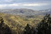 Oltrepo winter panorama. Color image — Stock Photo