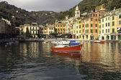 Portofino Bay large view. Color image — Stock Photo