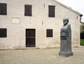 Giuseppe Verdi birth house, detail. Color image — Stock Photo