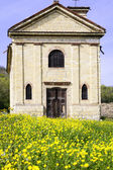 Old rural church in Monferrato. Color image — Stock Photo
