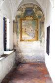 Certosa di Pavia, internal detail. Color image — Stock Photo