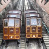 Budapest Castle Hill Funicular — Stock Photo