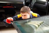 Real Mechanic working in Auto Repair Shop — Foto de Stock