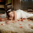 Find Similar  Get a Comp  Save to LightboxFancy Bride Lying on t — Stock Photo #65945459
