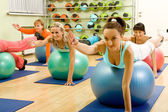 Fitness with Balls — Stockfoto