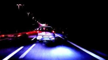 Intense traffic on roman highway — Stock Video