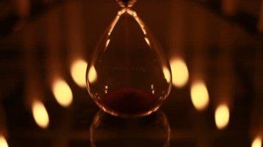 サンズ時間ガラスを移動します。 — ストックビデオ