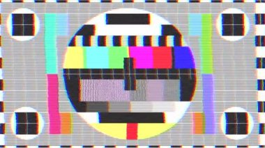 Cattivo segnale tv — Video Stock