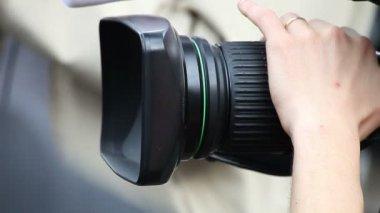 Cameraman with camera — Stock Video