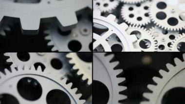 Gear system rotation set — Stock Video
