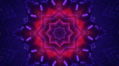 Colorful kaleidoscopic background — Video Stock