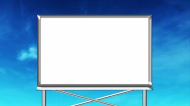 White empty billboard — Stock Video