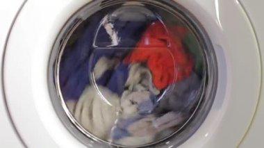 Washing machine turning — Stock Video