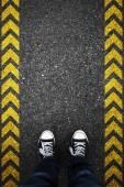Walking direction — Stock Photo