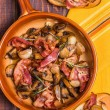 Fried mushrooms with bacon, garlic, rosemary — Stock Photo #67480231