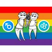 Gay couple, gay love — Stock Vector