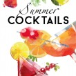 Summer Cocktails background — Stock Vector #63657615