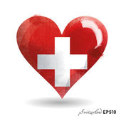 Switzerland heart of world — Stockvector