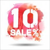 10 per cent sale — Stockvector