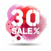 Aquarelle de vente 30 — Vecteur