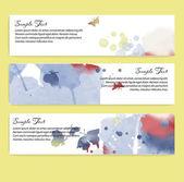Watercolor banner design — Vector de stock