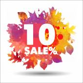 Herfst 10 procent verkoop — Stockvector