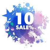 Winter sale background — Stock Vector