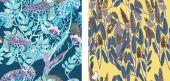 Floral pattern set — Stock Vector