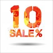 10 procent verkoop — Stockvector