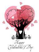 Glad alla hjärtans dag bakgrund — Stockvektor
