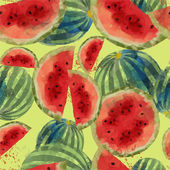 无缝模式的西瓜 — 图库矢量图片