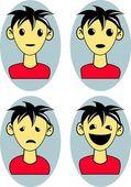 Emotion cartoon man — Stock Vector