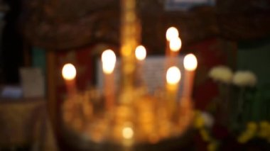 Church Candles — Stock Video