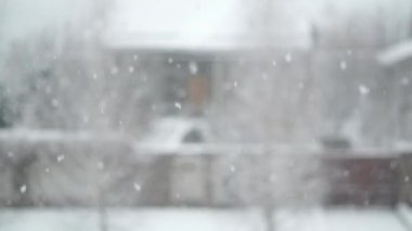 Snow Outside the Window — Stock Video