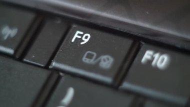 Button Black PC Keyboard Typing — Stock Video