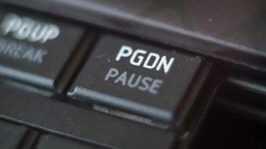 Button Black PC Keyboard Typing — Stockvideo