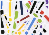 Multicolor Exclamations — Stock Photo