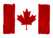 Watercolor Canada Flag.Clipping Path Included. — Stock Photo