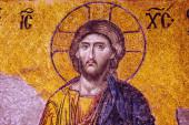 Mosaic of Jesus Christ.Hagia Sophia in Istanbul, Turkey. — Stock Photo