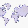 Watercolor World Map. — Stock Photo #67235551