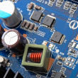 Part of PC main board with electronic components.  — Stock Photo #67237883