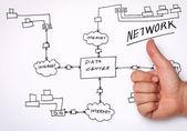Network Diagram — Stock Photo