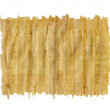 Torn Yellow Brown Papyrus Paper Isolated on White Background. — Stock Photo #68603157