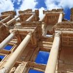 Facade of ancient Celsius Library in Ephesus Turkey — Stock Photo #68852477