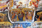 Awful repainted fresco, Sumela monastery, Trabzon, Turkey — Stock Photo