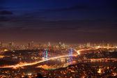 The night view of Bosphorus Bridge — Stock Photo